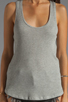 Image 3 of Velvet by Graham & Spencer Cambria Textured Knit Tank in Heather Grey