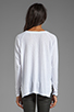 Image 2 of Velvet by Graham & Spencer Gala Lux Slub Long Sleeve V-Neck in White