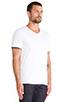 Image 2 of Vince Favorite Jersey V-Neck in White