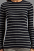 Image 4 of Vince Striped Long Sleeve Crew in Coastal/Heather Platinum