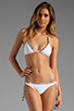 Image 1 of Vix Swimwear Kalahari Tri Embroidery Bikini Top in White