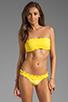 Image 1 of Sofia By Vix Swimwear Sierra Rouche Bandeau in Yellow