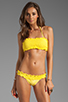 Image 2 of Sofia By Vix Swimwear Sierra Rouche Bandeau in Yellow
