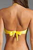 Image 3 of Sofia By Vix Swimwear Sierra Rouche Bandeau in Yellow