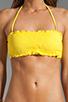 Image 4 of Sofia By Vix Swimwear Sierra Rouche Bandeau in Yellow
