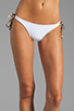 Image 1 of Sofia By Vix Swimwear Austin Long Tie Bottom in White