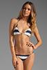Image 1 of Vix Swimwear Malawi Tri Detail Bikini Top in Navy/White
