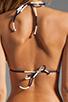 Image 2 of Vix Swimwear Malawi Tri Detail Bikini Top in Navy/White