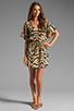 Image 2 of Vix Swimwear Cape Black Lilly Dress in Brown/Black