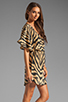 Image 3 of Vix Swimwear Cape Black Lilly Dress in Brown/Black