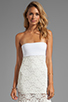 Image 1 of VOOM by Joy Han Kylie Strapless Dress in White
