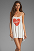 Image 1 of Wildfox Couture Pin Up Heart Bells Beach Dress in Bright Cloud