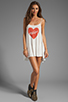 Image 2 of Wildfox Couture Pin Up Heart Bells Beach Dress in Bright Cloud
