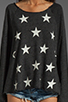 Image 4 of Wildfox Couture Jazzercise Stars Off the Shoulder Sweatshirt in Clean Black