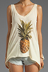 Image 3 of Wildfox Couture Pineapple Dreamer Tank in Banana Split