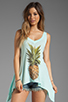 Image 1 of Wildfox Couture Pineapple Dreamer Tank in Bleached Aqua