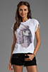Image 1 of Wildfox Couture Jersey Poodle Crewneck Graphic Tee in Clean White