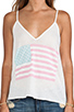 Image 4 of Wildfox Couture Pastel America Paradise Cami in Bright Cloud