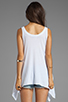 Image 2 of Wildfox Couture Amour Amour Heart Tank in Clean White