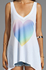 Image 3 of Wildfox Couture Amour Amour Heart Tank in Clean White