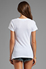 Image 2 of Wildfox Couture Bright Wing Bird Classic V-Neck Tee in Clean White