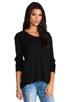 Image 2 of Wilt Slub Jersey Slouchy BF Long Sleeve in Black