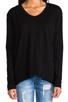 Image 4 of Wilt Slub Jersey Slouchy BF Long Sleeve in Black