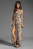 Image 2 of Winter Kate Evania Dress in Wed Latte/Butterflies Latte