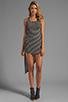 Image 2 of WOODLEIGH Astrid Asymmetrical Tank Dress in Black/White Stripe