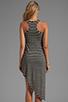 Image 4 of WOODLEIGH Astrid Asymmetrical Tank Dress in Black/White Stripe