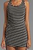 Image 5 of WOODLEIGH Astrid Asymmetrical Tank Dress in Black/White Stripe