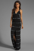 Image 1 of Young, Fabulous & Broke Garnet Maxi in Black Super Skinny Stripe