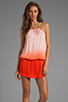Image 1 of Young, Fabulous & Broke Drea Ombre Dress in Fire
