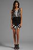 Image 2 of Young, Fabulous & Broke Matilda Skeleton Wash Dress in Black