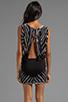Image 4 of Young, Fabulous & Broke Matilda Skeleton Wash Dress in Black