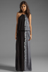 Image 1 of Young, Fabulous & Broke Kassandra Side Ombre Maxi in Black