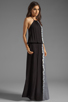 Image 2 of Young, Fabulous & Broke Kassandra Side Ombre Maxi in Black