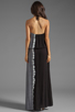 Image 3 of Young, Fabulous & Broke Kassandra Side Ombre Maxi in Black
