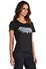 Image 2 of Zoe Karssen Bat Short Sleeve Tee in Pirate Black