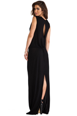 Knot Back Maxi in Black