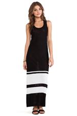 Genevieve Maxi Dress in Black& White Stripes