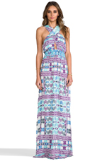 Drummer's Embroidered Maxi Dress in Tumba Geo