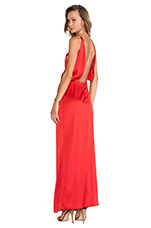 Paola Long Dress in Red