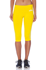 3/4 Running Tights in Canary Yellow