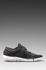 Athletic Shoe in Black/Solid Grey/Turbo