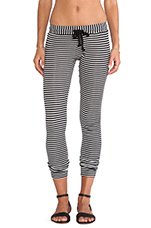 Kelly Pants in Black/White Stripe