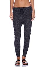 Ava Drop Crotch Sweatpants in Tweed Black