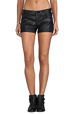 The Cocktail Short in Leatherette Black