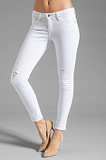 The Legging Ankle in White