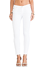 The Legging Ankle Zip in White
